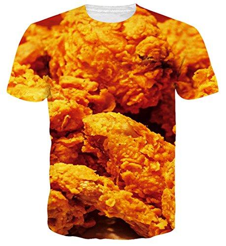 Goodstoworld Chicken Nuggets Shirt 3D T Shirt Druck Herren Damen Printed Sommer Lustig Hippie...