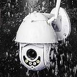 PTZ Camera Exterieur, Caméra Surveillance WiFi Audio Bidirectionnel, Vision Nocturne Infrarouge, Détection de Mouvement, Étanche IP66, Notifications D'événements