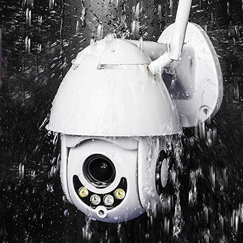 PTZ Kamera Aussen WLAN IP Dome Überwachungskamera 1080P Pan 355°/ Tilt 90°, Zwei Wege Audio, APP Alarm, IR Nachtsicht, Bewegungserkennung, IP66 Wasserdicht, Fernzugriff Ptz-kamera
