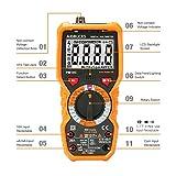 Janisa - Multimetro Digitale con LCD Retroilluminazione PM18C - Tester DC AC Voltaggio Corrente Resistenza Tensione Diodo Transistore Frequenza