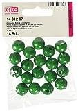 Holz-Perlen grün 14 mm, 18 Stück, Efco