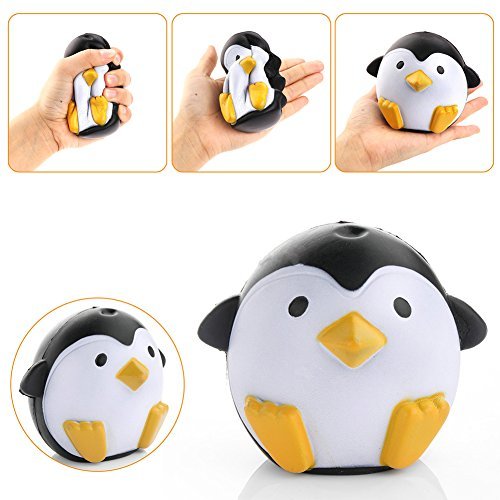 51jvmAXb8kL UK BEST BUY #1Maphissus Soft Animal Squeeze Stretch Compress Squishy Decompression Toy Penguin Plush Toy Simulation Cake Rebound Children Toys Penguin price Reviews uk