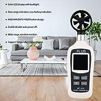 Hermosairis FLUS MT-915 Handheld Digital Anemometer LCD Hintergrundbeleuchtung Air Windgeschwindigkeit Geschwindigkeit Meter Unterstützung über Range Indication