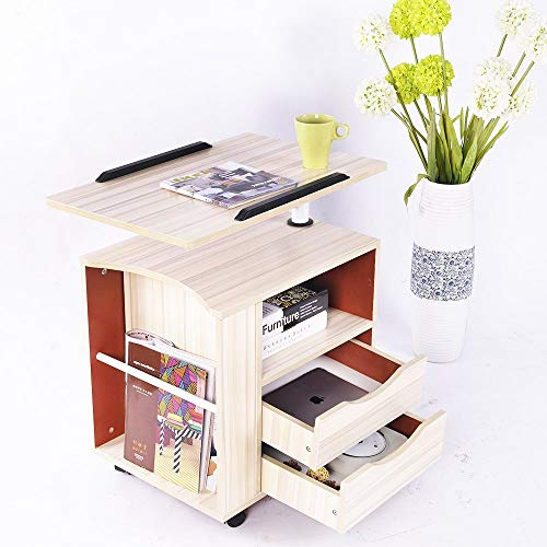 ZTKBG Nachttisch mit Regalschrank Schlafzimmermöbel Nachttisch Schublade Schublade Locker Ahorn -