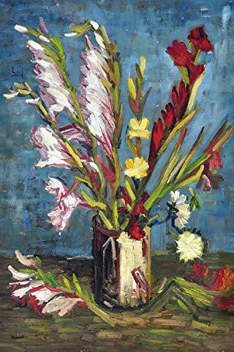 1art1 118603 Vincent Van Gogh - Vase Mit Gladiolen, 1886 XXL Poster 120 x 80 cm