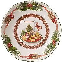 Villeroy & Boch Toy's Fantasy Bol pequeño Pastas, Porcelana Premium, Verde/Rojo/Blanco