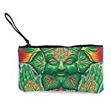 shuangshao liu Unisex Canvas Wristlet Wallet Clutch Purse Coin Pouch Pencil Bag Cosmetic Bag Zen...