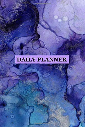 Daily Planner: Purple Blue Marbled Cover 2019 To Do List Planner with Checkboxes to Keep Your Organized por Happy Planners and Journals