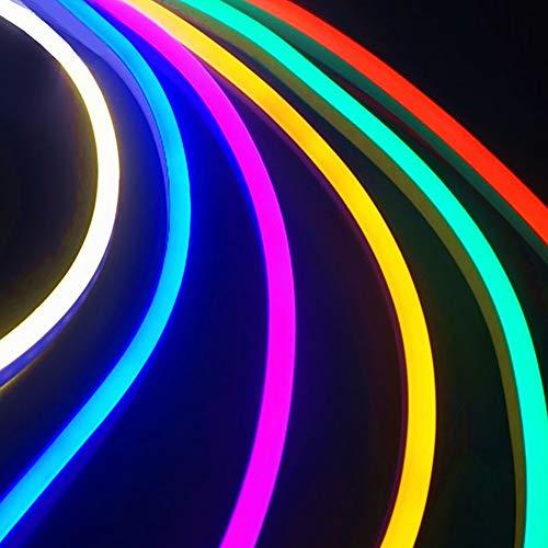 Preisvergleich Produktbild YUEMA 4 Stück mehrfarbige LED-Neon-Lampe,  flexibel,  Lichtschlauch für Dekoration Party,  Außen,  Fahrradbeleuchtung,  Bar,  Dekoration,  Küche,  Haus