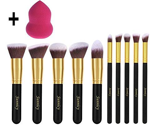 Kit de pinceaux - 10 pièces makeup pinceau fond de teint anti cerne blush +Blender Maquillage