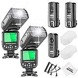Neewer® NW- 562N i-TTL Blitz Blitzlicht Speedlite-Kit für Nikon DSLR-Kameras, Kit inklusive: 2x NW562N Blitz + 1x FC-16 2.4GHz Wireless Auslöser (1 * Transmitter+2 * Empfänger) +1x Mikrofaser Reinigungstuch