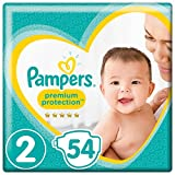 Pampers Premium Protection New Baby Size 2, 54 Nappies, 4-8 kg