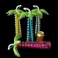 Casavidas - Pajitas creativas de plástico para bebidas de 500 ml con forma de coco para