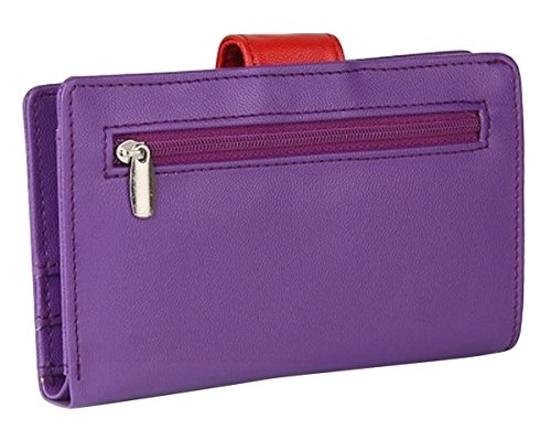 Butterflies porte-monnaie à la main des dames casual fermeture magnétique sac à main d'embrayage Violet