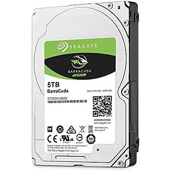 Seagate BarraCuda 5 TB, ST5000LM000, interne Festplatte, 15mm,6,4 cm (2,5 Zoll), 128MB Cache, SATA 6 Gb/s schwarz