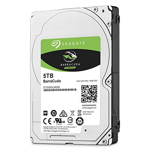 Seagate ST5000LM000 Barracuda 5 TB interne Festplatte (6,4 cm (2,5 Zoll) 128 MB Cache, Sata 6 Gb/s)