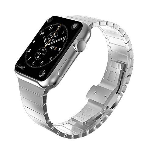 41% OFF on Apple Watch Band, Stainless Steel Kades Link Bracelet Strap Butterfly Closure iWatch