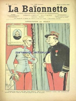 Free Baionnette La No 71 Du 02 07 1901 Consultant Par