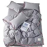 GSYDSJT-GD Bettwäsche Gewaschener Baumwolle vierteilig einfarbig Baumwolle Farbband 1,51,8 m Doppelte Bettbezüge