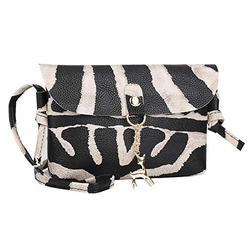 Kleine Umhängentasche Damen, Weant Einfarbig Schultertasche Crossbody Tasche Handtasche Leopard Mini Handytasche Classic Handtasche PU Ledertasche Klein Umhängetasche - Leopard Mini Tote