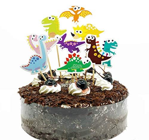 Dinosaurier-Kuchenaufsatz, Happy Birthday Twinkle, DIY Glitzer, 1. Geburtstag, Cupcake-Topper, Kuchen, Smash, Kerze, Alternative Party, handgefertigt