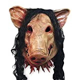 OULII Creepy Prop animaux cochon effrayant unisexe Party tête masque - Costumes d'Halloween