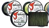 Daiwa J-Braid 8 Braid 0.10mm, 6.0kg / 13.0lbs, 300m dunkelgrün, rund geflochtene Angelschnur