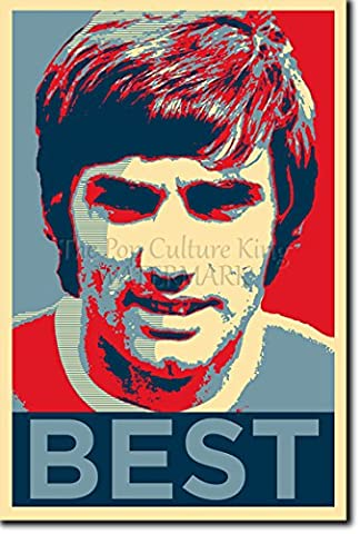 George Best Art Print 'Hope' - High Quality Photographic Poster - Unique Art Gift - Size: 12 x 8