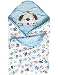 Vine Manta para bebés Babies Kids Baby Baño Toalla con capucha, 100% algodón. Diseño Original(perro)