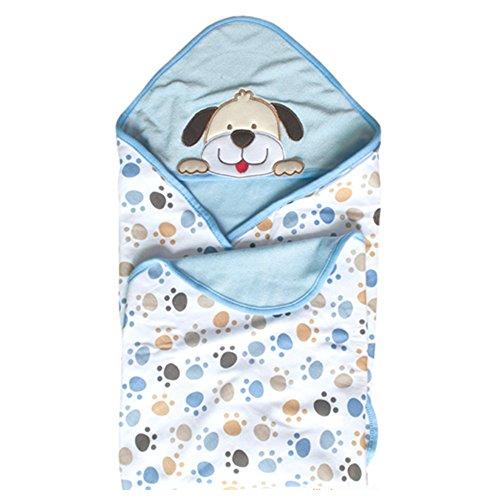 GudeHome Sommer Baby Schlafsack Kuscheldecke Baby Decke Baumwolle Stickerei Stickerei Haube...
