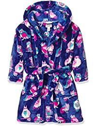 Hatley Fleece Robe-Happy Owls, Vestido para Niños