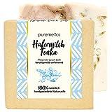 puremetics Zero Waste pflegende Dusch-Seife'Hafermilch Tonka' | 100% natürlich, vegan & plastikfrei...
