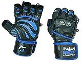"""Grip Power Pads® Elite Fitnessstudio Leder Handschuhe mit integriertem 2"""" Wide Handgelenkstützen - Leder Handschuh Design für Gewichtheben"""