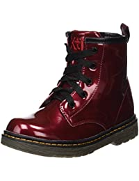 XTI Botin Niña Charol Burdeos, Zapatos de Cordones Derby para Niñas