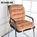 chengyu Keep Warm Weiche Rückseite Kissen und Sitzkissen, Relief Druck von ihren Rücken, perfekt für Computer/Bürostuhl, Autositz, Liege etc. Hellbraun