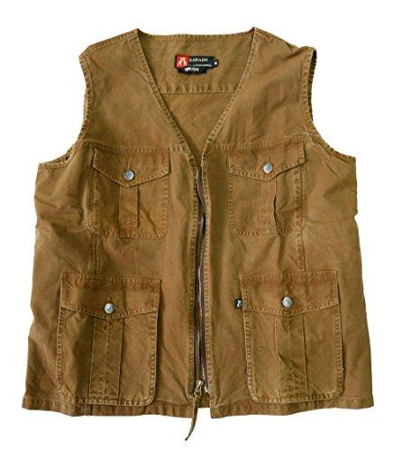 Kakadu Traders Virgil Vest, leichte Baumwoll-Weste mit verdeckten Innentaschen und Holster