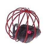 TOOGOO(R) Animal de Compagnie Chat Chaton Jouet de Jeu Drole Sarcelle Faux Souris Rat Cage Boule