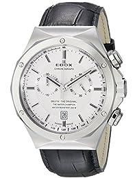 EDOX 10107de hombres 3C Ain Delfin Analógica Swiss Quartz Negro reloj por Edox