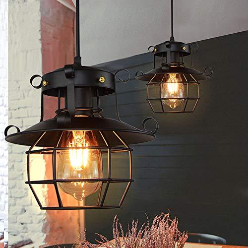DFDFGH Semi-Flush Mount Deckenleuchte E27, Industrial Vintage Style Lampenschirm, Öl Gerieben Bronze Finish Kronleuchter 220V -