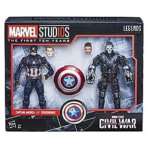 Hasbro accion Marvel Pack 2 Figuras Capitán América & Crossbones, Multicolor (E2447E49)