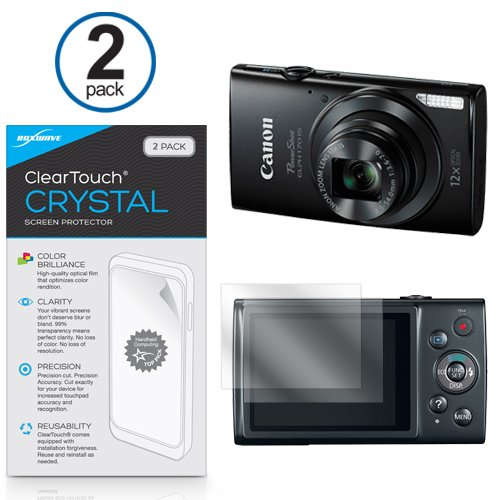 canon-powershot-elph-170-protector-de-pantalla-boxwaver-cleartouch-crystal-2-pack-hd-pelicula-piel-p