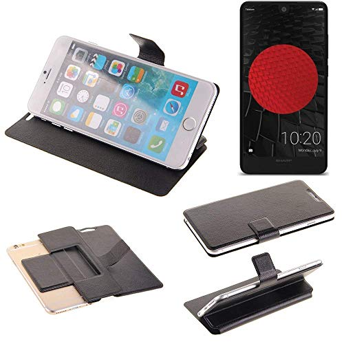 K-S-Trade Schutz Hülle für Sharp Aquos C10 Schutzhülle Flip Cover Handy Wallet Case Slim Handyhülle bookstyle schwarz