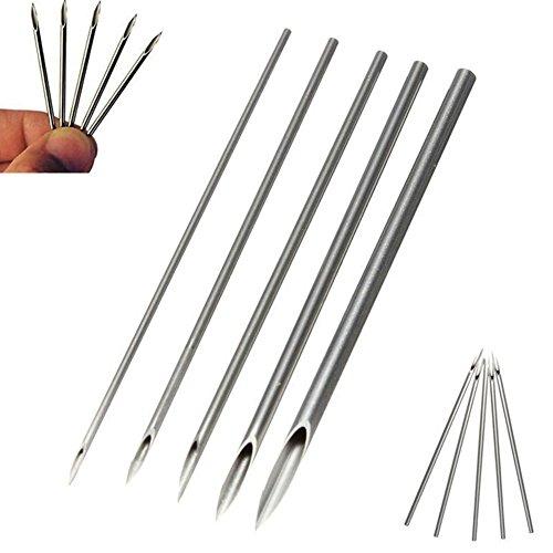 UxradG Piercing Nadeln, 100/set 12/14/16/18/20G Edelstahl tri-beveled Pin für Navel Nase Lippe Ohr