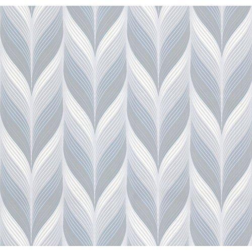P&S International Modern nicht gewebt geometrisch geprägt Feder Motiv Muster pastellfarbene TAPETE - 13591-10 blass türkis (Blass-türkis)