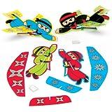"""Baker Ross Gleitflugzeuge """"Ninjas"""" für Kinder – Perfekt als Kleine Partyüberraschung für Kinder (8 Stück)"""