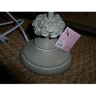 Antic Line Kreationen–Lampe grau Fuß Décor Rosen Antic Line