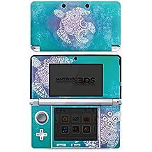 Nintendo 3 DS Case Skin Sticker aus Vinyl-Folie Aufkleber Mandala Turtle Schildkröte Muster
