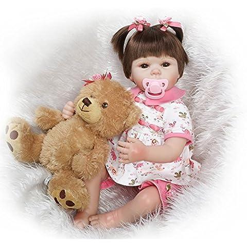 Fachel Reborn doll muñeca realista de silicona muñeca bebe dollsvinyl bebés recién nacidos 45cm 18inch como en la vida real Baby Doll muñeca Reborn