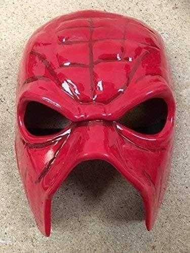 Wrestling Kane - Team Hell No Maske Rot Kostüm WWE Kostüm Outfit Zubehör - Hart Kunststoff mit Elastischer Band
