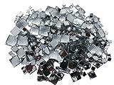 470 Stück Quadratische Mischung glitzernde Steine zum Aufnähen Strasssteine zum Annähen runde Acrylsteine Gltzersteine Schmucksteine Strass Annähsteine Aufnähsteine Dekorieren von CRYSTAL KING